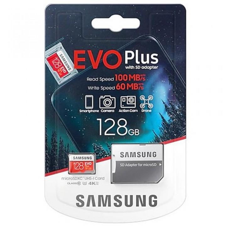 Карта памяти Samsung EVO Plus (UHS-3) 128GB