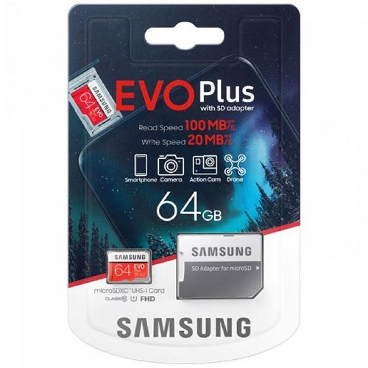Карта памяти Samsung EVO PlusSamsung EVO Plus (UHS-1) 64GB