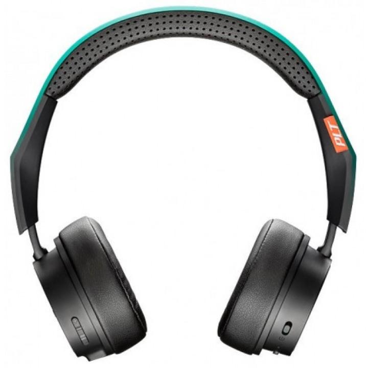 Стерео Bluetooth гарнитура Plantronics BackBeat Fit 500 (черный-зеленый)