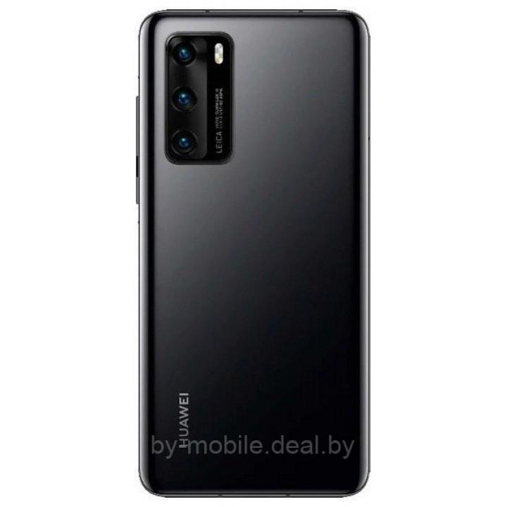 Задняя крышка (стекло) для Huawei P40, ANA-NX9, ANA-NX9 Dual (черный)