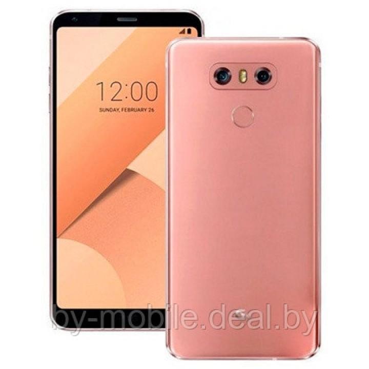 Задняя крышка (стекло) для LG G6 Dual SIM H870DS (розовый)