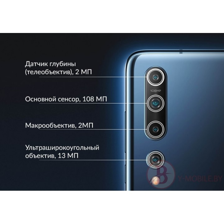 Объектив камеры заднего вида для Xiaomi Mi 10