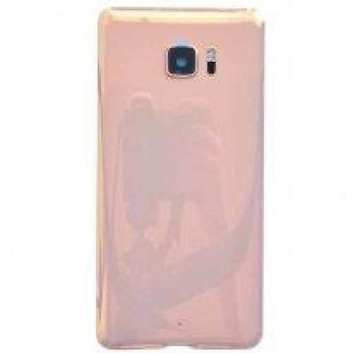 Задняя крышка (стекло) для HTC U Ultra (розовый)