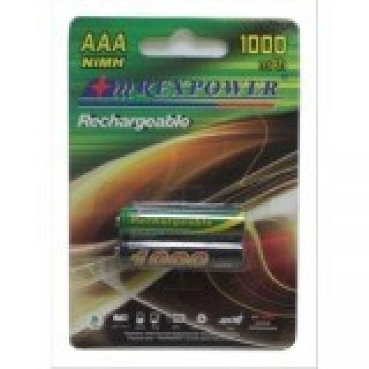 Аккумулятор RexPower 1000mAh ААА NiMh тип AAA R03 LR03 (2 шт. в одной упаковке)