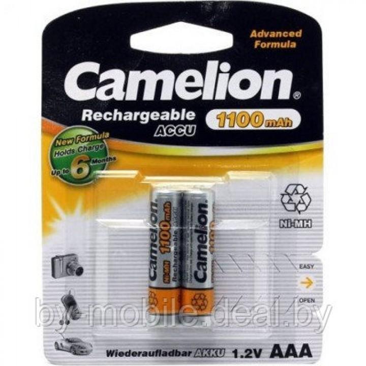 Аккумулятор Camelion 1100 mAh ААА NiMh тип AAA R03 LR03 (2 шт. в одной упаковке)