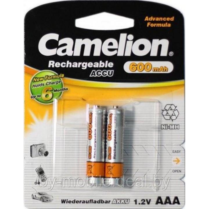 Аккумулятор Camelion 600 mAh ААА NiMh тип AAA R03 LR03 (2 шт. в одной упаковке)