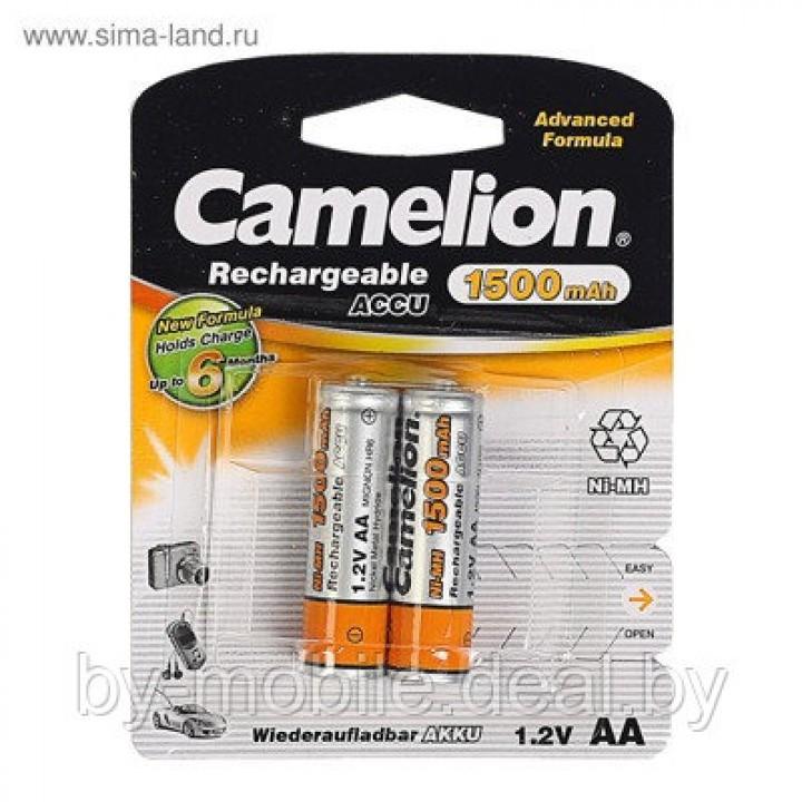 Аккумулятор Camelion 1500mAh АА NiMh тип AA R06 LR6 LR06 (2 шт. в одной упаковке)