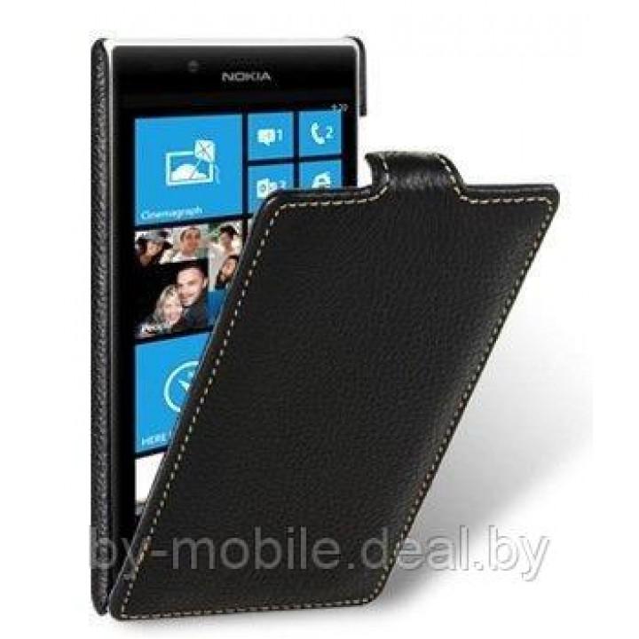 Чехол книга Experts для Nokia Lumia 720 (кожа, чёрный)