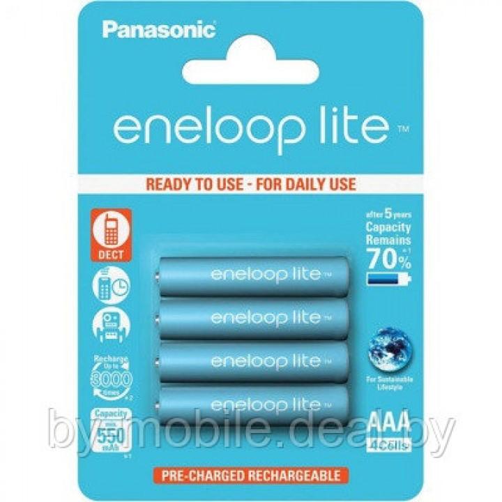 Аккумулятор Panasonic Eneloop Lite AAA 550mAh тип AAA R03 LR03 (4 шт. в одной упаковке BK-4LCCE.4BE)