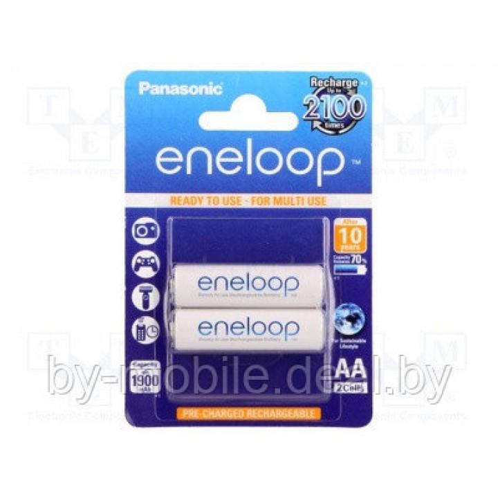 Аккумулятор Panasonic Eneloop 1900mAh АА NiMh тип AA R06 LR6 LR06 (2 шт. в одной упаковке (BK-3MCCE.2BE))