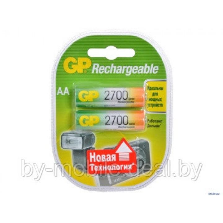 Аккумулятор GP 2700mAh АА NiMh тип AA R06 LR6 LR06 (2 шт. в одной упаковке)