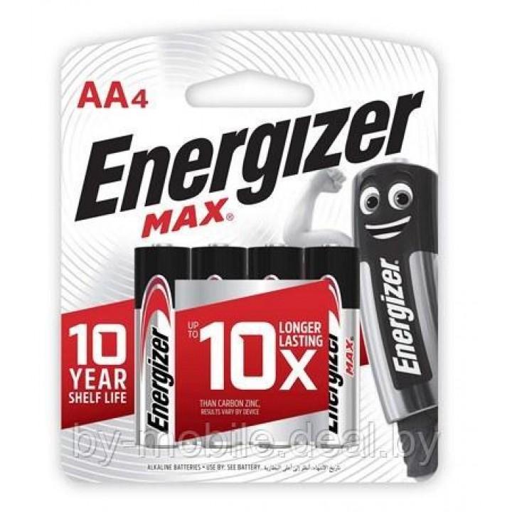 Аккумулятор Energizer MAX AA R06 LR6 LR06 (4 шт. в одной упаковке)