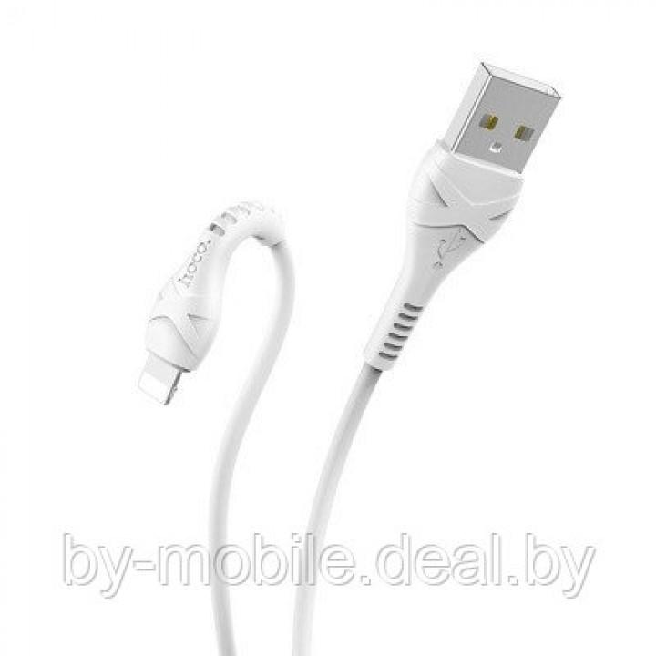 USB кабель Hoco X37 Lightning для зарядки и синхронизации (белый) 1 метра