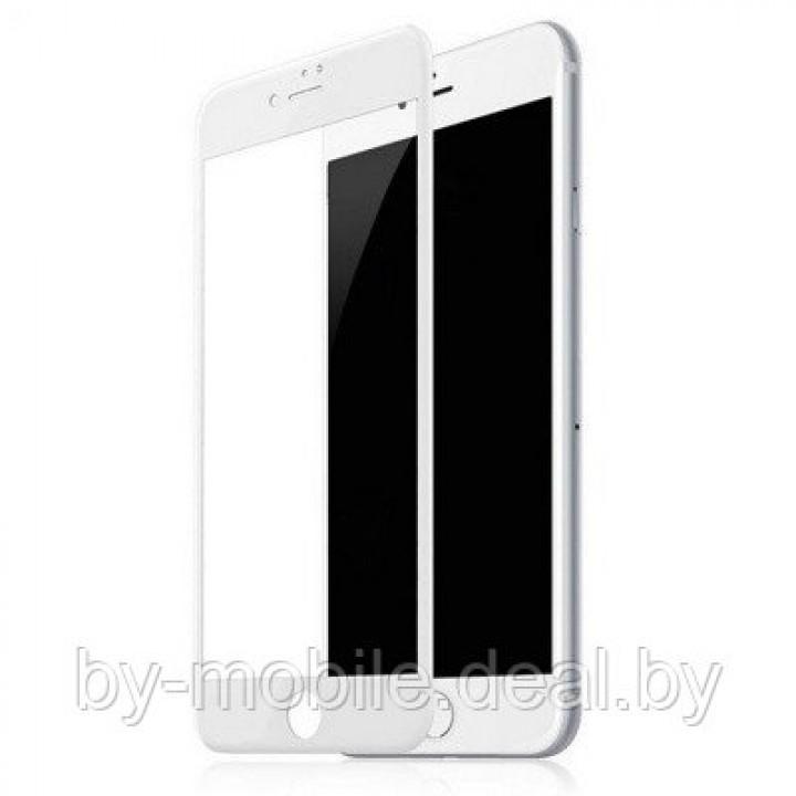 Защитное стекло Apple iPhone 7 plus (белый) 5D