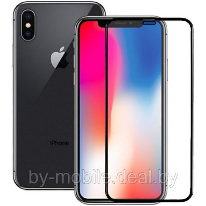 Защитное стекло Apple iPhone X (черный) 5D