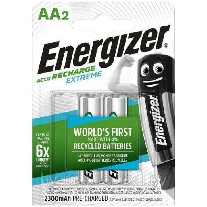 Аккумулятор Energizer Recharge Extreme 2300mAh АА NiMh тип AA R06 LR6 LR06 (2 шт. в одной упаковке)