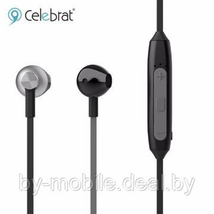 Стерео Bluetooth гарнитура Celebrat FLY-5 черная