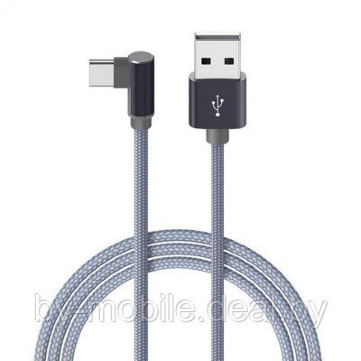 USB кабель Borofone BX26 Type-C для зарядки и синхронизации (металлически-серый) 1 метра