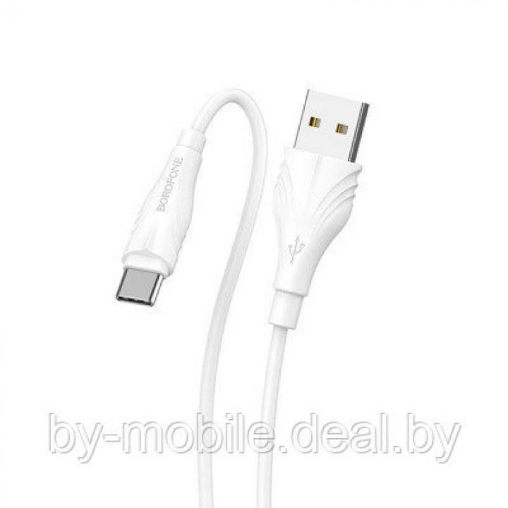 USB кабель Borofone BX18 Type-C для зарядки и синхронизации (белый) 2 метра