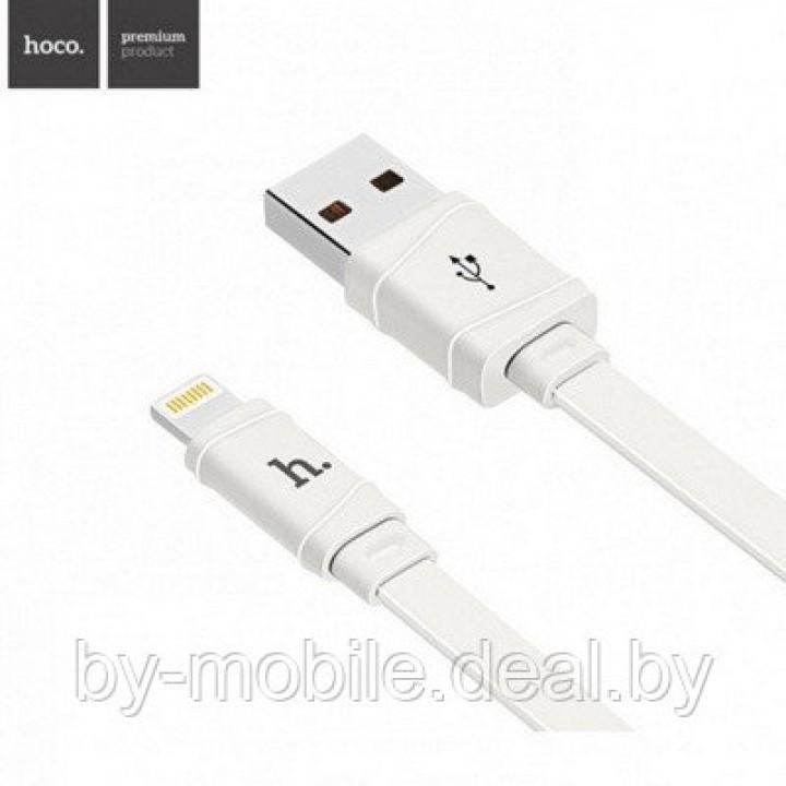 USB кабель Hoco x5 Lightning для зарядки и синхронизации (белый)