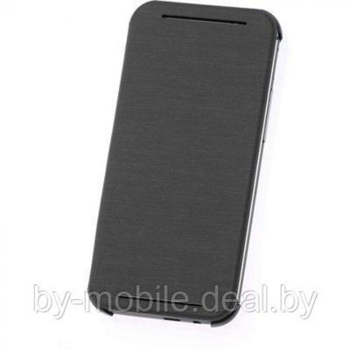 Чехол книжка valenta HTC One (M8) чёрный (кожа)