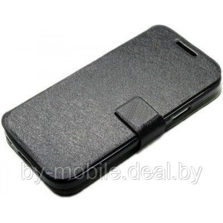 Чехол книжка valenta Samsung Galaxy S4 mini (19190,i9192,i9195) чёрный (кожа)