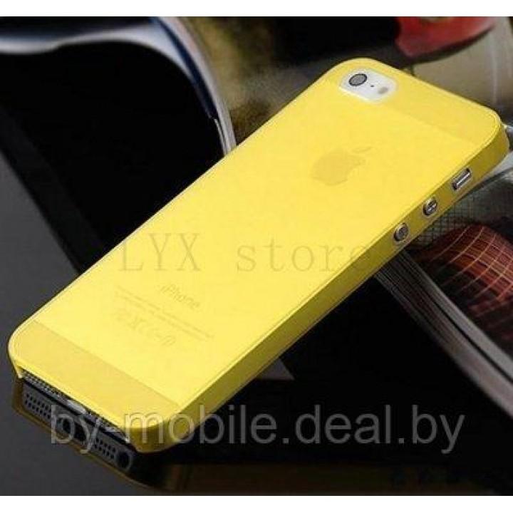 Силиконовая накладка для iPhone 4 /4s жёлтый