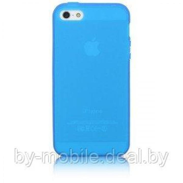 Силиконовая накладка для iPhone 5 /5s голубой