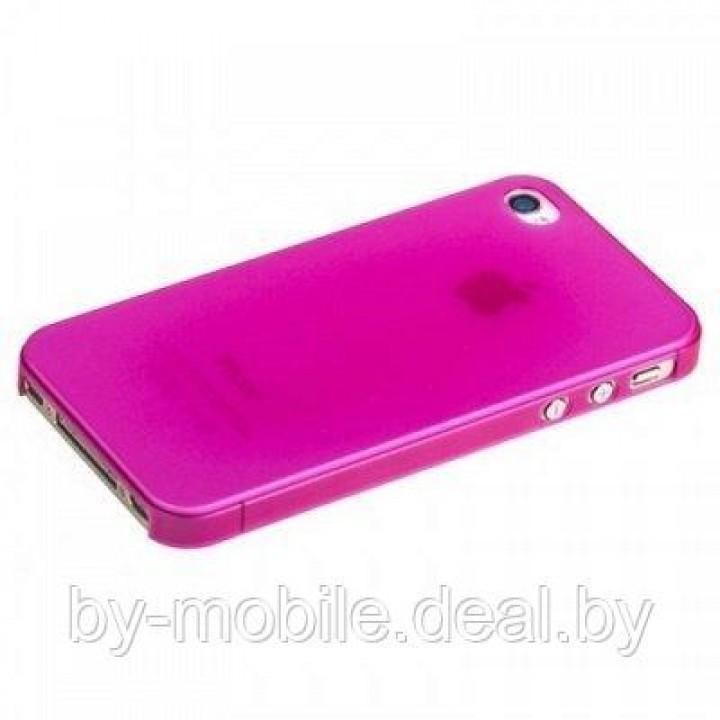 Силиконовая накладка для iPhone 5 /5s малиновый