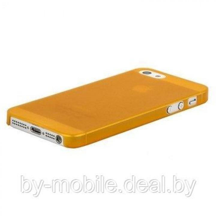 Силиконовая накладка для iPhone 5 /5s оранжевый