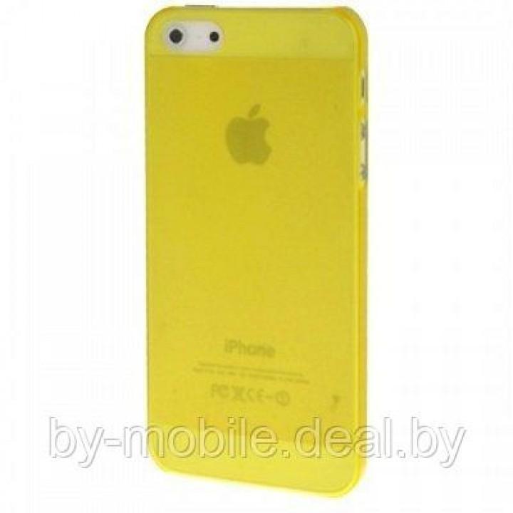 Силиконовая накладка для iPhone 5 /5s жёлтый