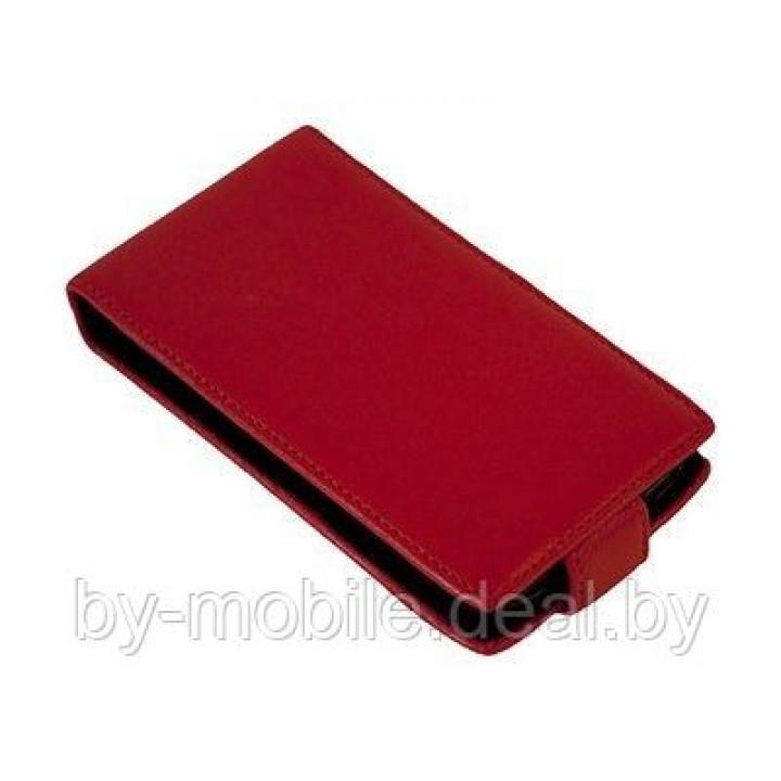 Чехол книжка valenta Samsung Galaxy S4 mini (19190,i9192,i9195) с1062 красный (кожа)