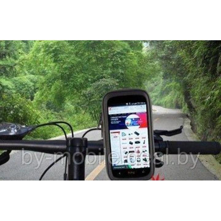 Велосипедный держатель для телефона на руль влагозащитный Apple iPhone 6 Plus размер 165x80мм
