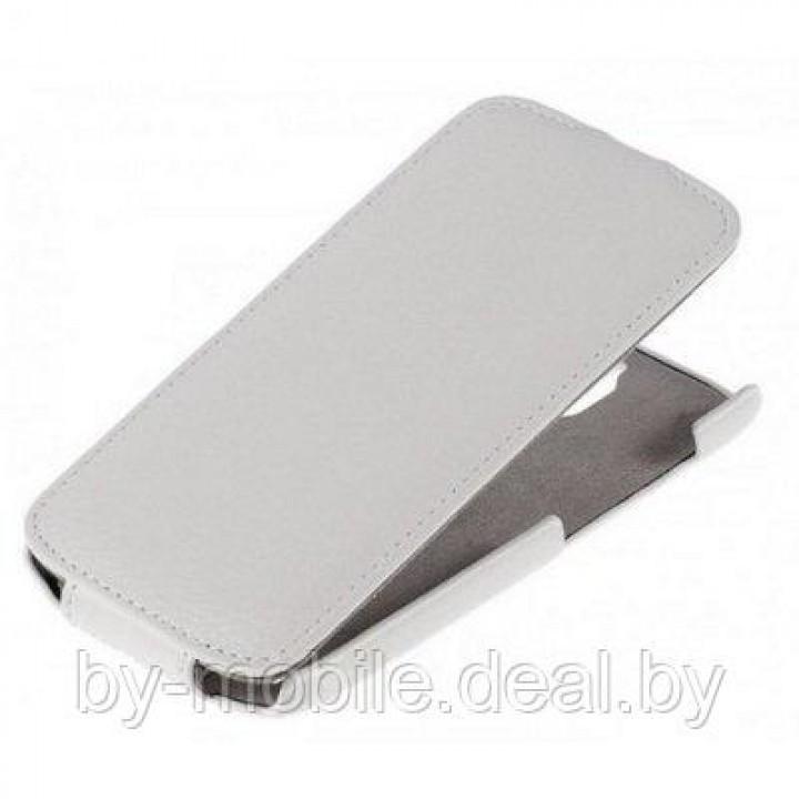 Чехол книжка valenta Huawei G610-C00 белый (кожа Глянец)