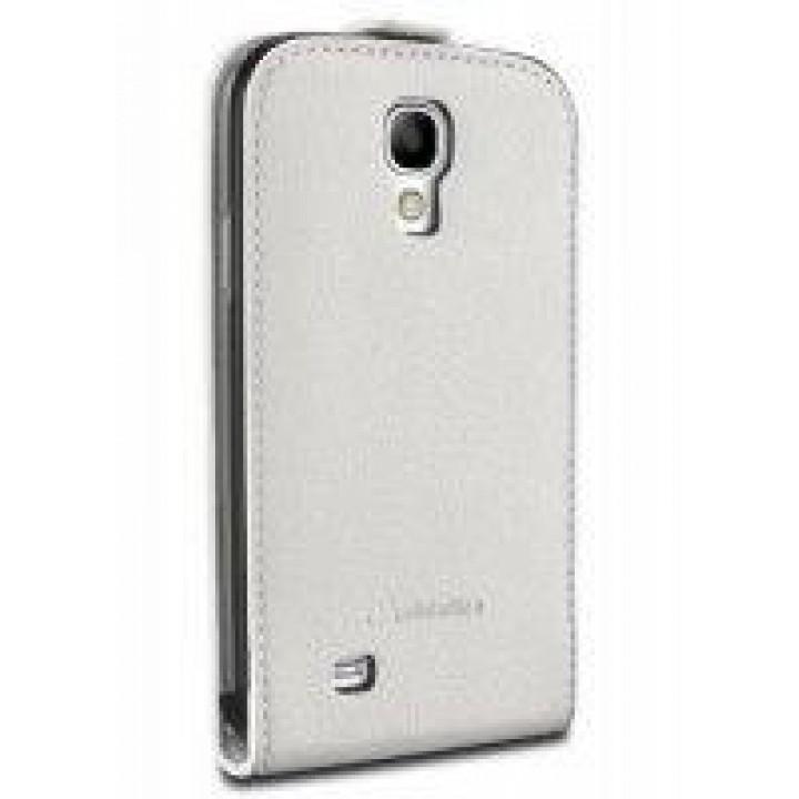 Чехол книжка valenta Samsung Galaxy S4 mini (19190,i9192,i9195) с1062 белый (кожа)