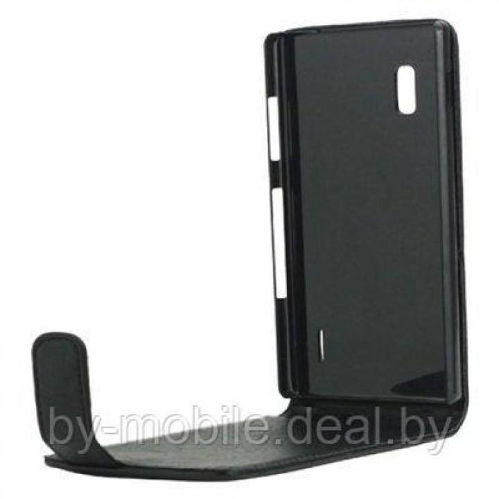 Чехол книжка-флип valenta LG Optimus G (E975,E985,E986,E988) чёрный с967 (кожа)