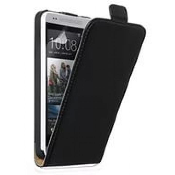 Чехол книжка valenta HTC One mini чёрный с1062 (кожа)