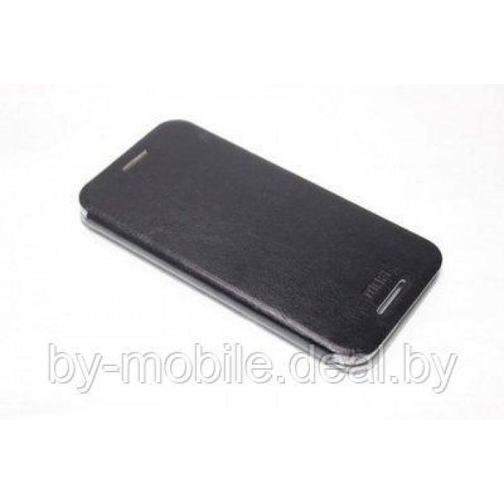Чехол книжка valenta HTC One (M8) чёрный с1060 (кожа)