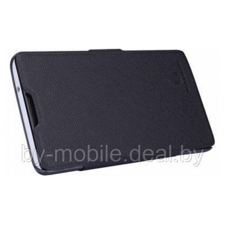 Чехол книжка valenta Huawei Ascend G700 чёрный С1060 (кожа )