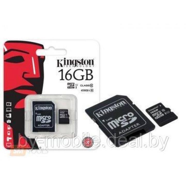 Карта памяти Kingston microSDHC (class 10) UHS-1  16GB