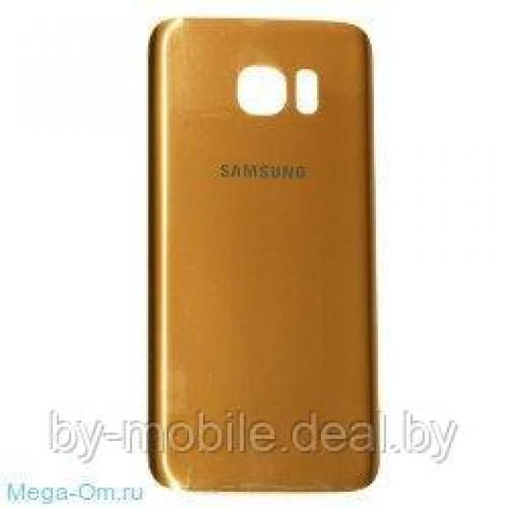 Задняя крышка (стекло) для Samsung Galaxy S6 золотая