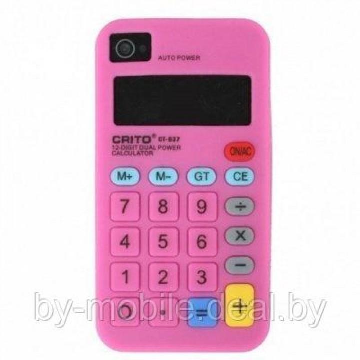 Чехол силиконовый ACTIV Calculator для Apple iPhone 5 (розовый)