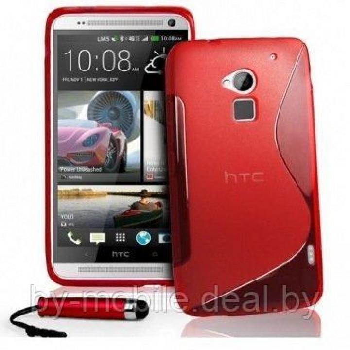 Силиконовая накладка для HTC One Max красный