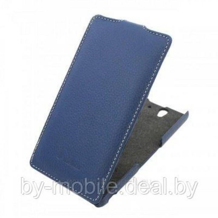 Чехол футляр-книга ACTIV Flip Leather для Sony Xperia Z L36h (синий)