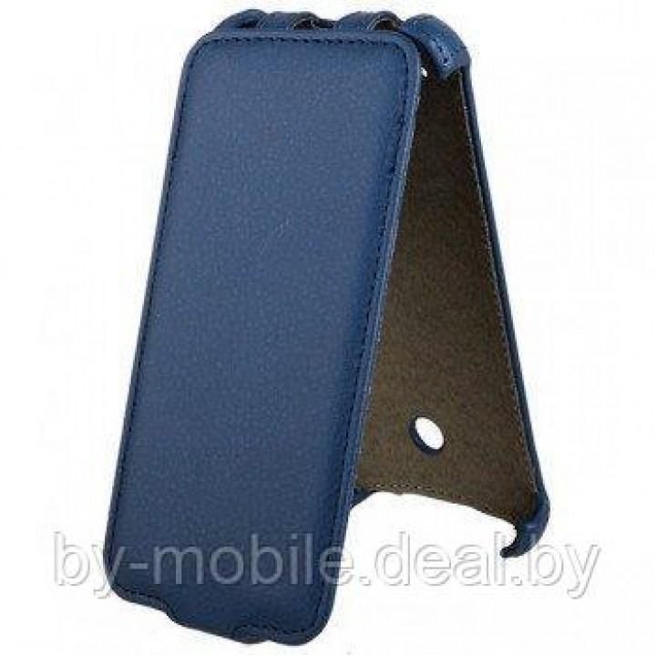 Чехол футляр-книга ACTIV Flip Leather для Nokia Lumia 800 (синий)