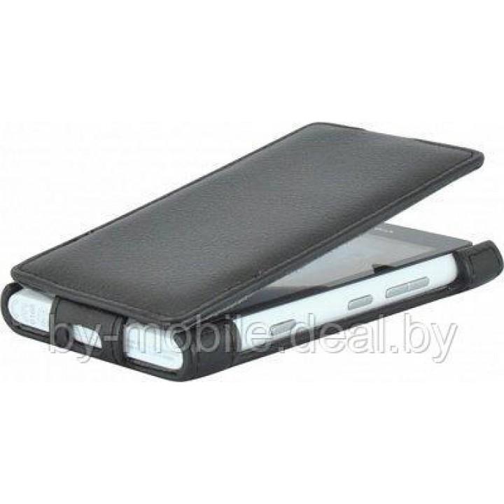 Чехол футляр-книга ACTIV Flip Leather для Nokia Lumia 800 (чёрный)