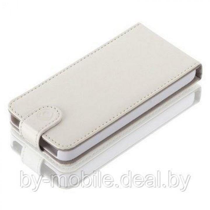 Чехол LEATHERFLIP GEAR4 для IPHONE 5/5S (Белый)
