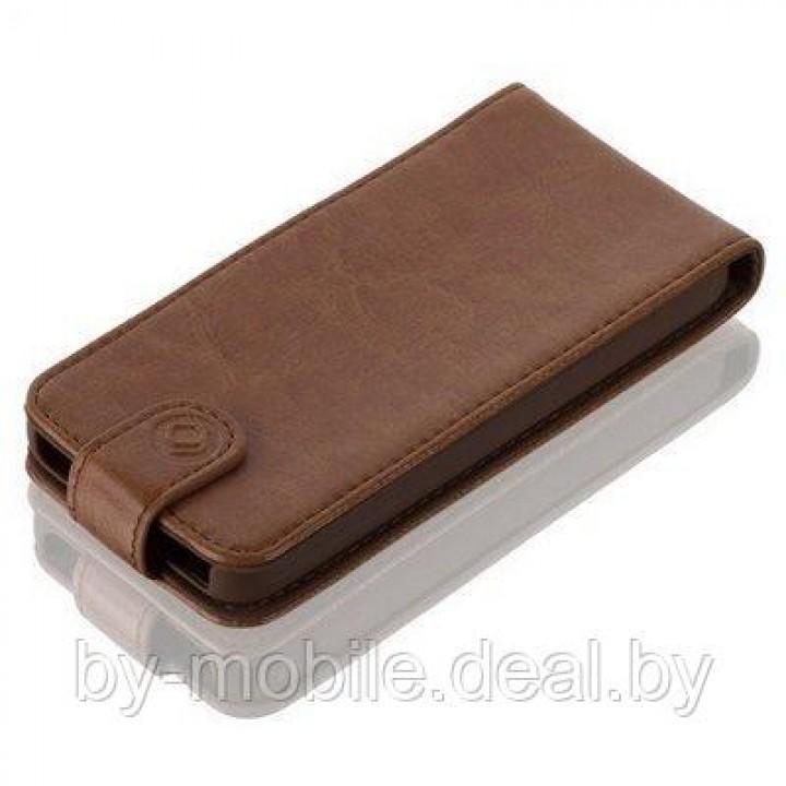 Чехол LeatherFlip Gear4 для iPhone 5/5s (коричневый)