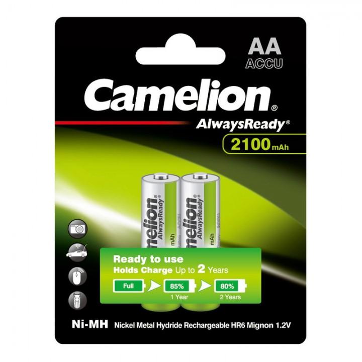 Аккумулятор Camelion 2100mAh АА AlwaysReady AA R06 LR6 LR06 (2 шт. в одной упаковке)