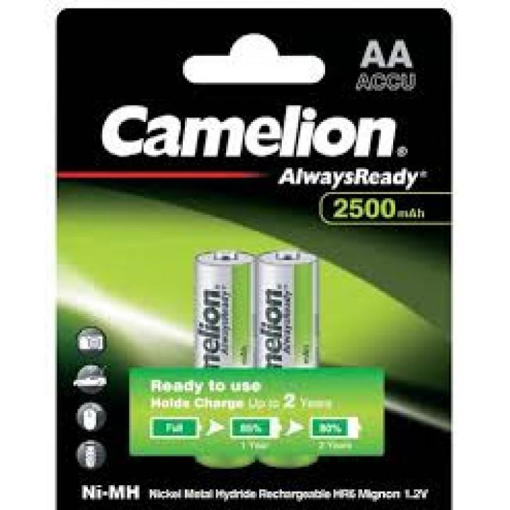 Аккумулятор Camelion 2500mAh АА AlwaysReady AA R06 LR6 LR06 (2 шт. в одной упаковке)